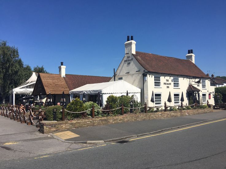 Pheasant Inn near Heathrow has delicious and traditional pub fare.  You can catch the bus from about any hotel out there or walk from many.