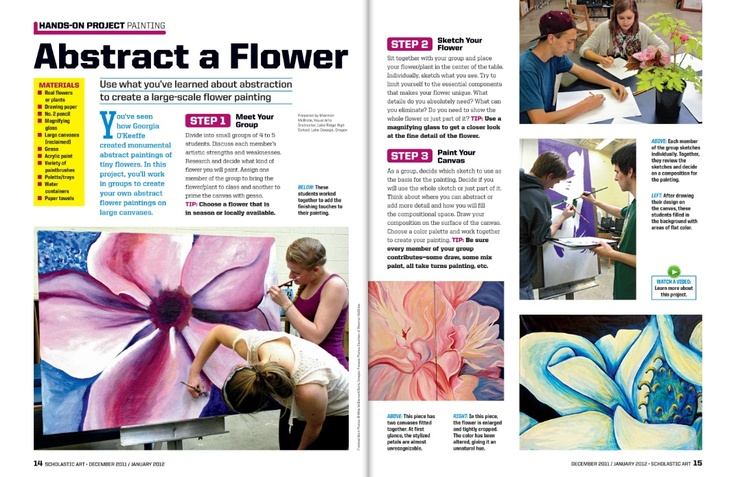 Hands-on Art Project: Abstract a #Flower #Painting #ScholasticArt