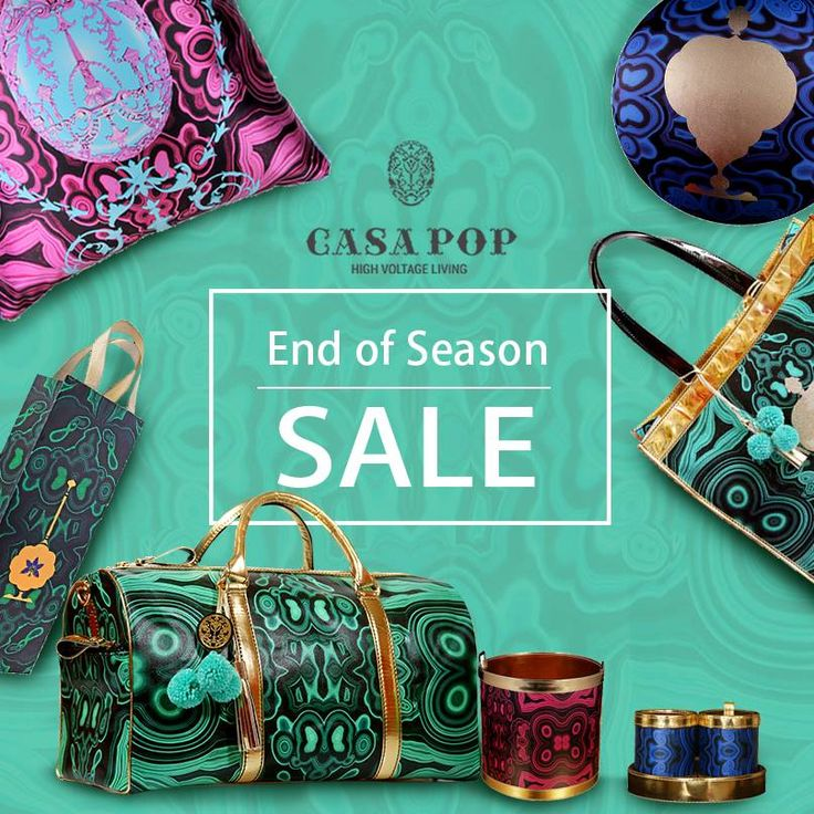 #EOSS #CasaPOP Ambience Mall,Vasant Kunj & Santushti Shopping Complex  Electrifyingly bright and charmingly ornate - The Malachite collection available in EOSS.  Don't miss out on the biggest SAVE this season at the exclusive Casa POP boutiques only #HappyShopping