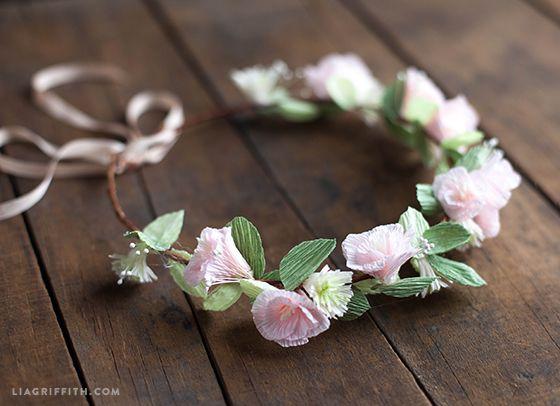 Make a Crepe Paper Flower Head Wreath