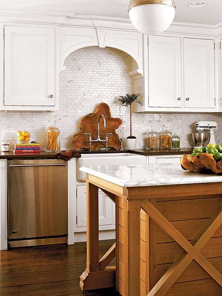 This custom island is made of a wooden shiplap back and for Design your own kitchen island