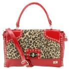 Bebe Camara Messenger Bag-Red/Leopard