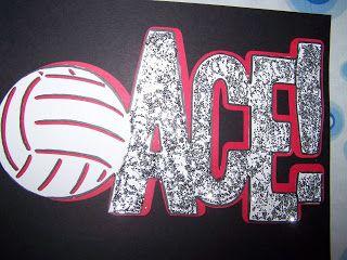 "Volleyball Locker Sign ""Ace"""