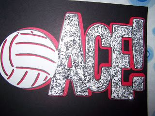 "Volleyball Locker Sign ""Ace"""