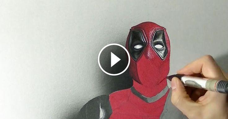 Étonnant ce que l'on peut faire avec une simple feuille blanche et quelques crayons. Cet artiste dresse le portrait en 3D de Deadpool, le célèbre antihéros de Marvel. Impressionnant !...