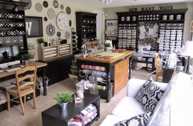 Repurpose your old furniture to create a beautiful and functional sewing room! | http://www.accuquilt.com
