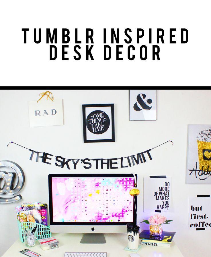 iMac Desk Tour! Lots of DIYs here!!  Desk its from IKEA https://www.youtube.com/watch?v=_dUa1P8eJqs