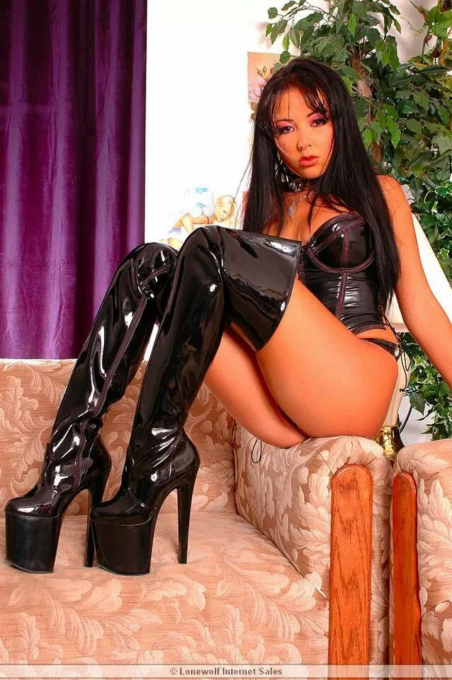 Asian slut in boots