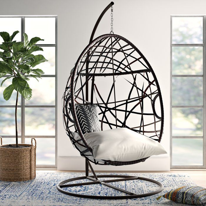 Strange Anner Tear Drop Swing Chair With Stand Furniture In 2019 Onthecornerstone Fun Painted Chair Ideas Images Onthecornerstoneorg