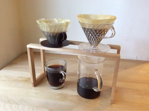 Wooden coffee Pour Over Stand  (Cypress)