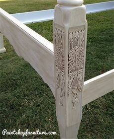 """Queen Anne """"Rice Bed"""". Refinished furniture from paintshopfurniture.com"""
