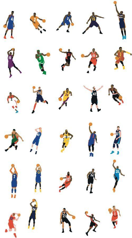 Basket-Ball • Players Pictograms • NBA Teams •