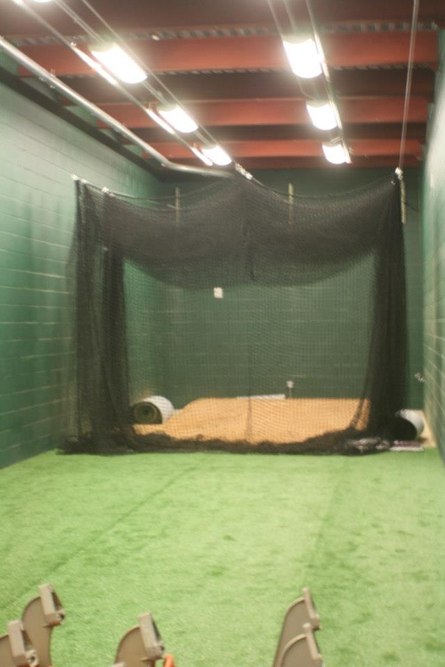 inside the indoor batting cages pnc field construction pinterest