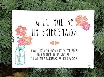 Cards for Bridesmaids | 31 Free Wedding Printables Every Bride-To-Be Should Know About