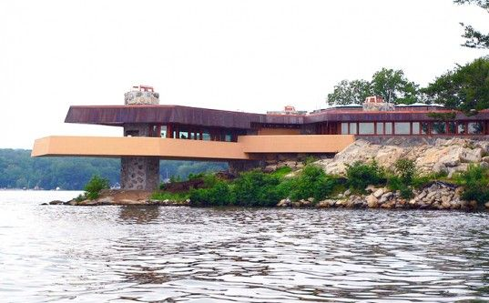 Frank Lloyd Wright-Designed Massaro House and Private Island For Sale in NY!