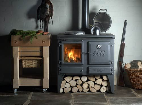 Something similar to this would effing rock.  Esse Ironheart cooker stove