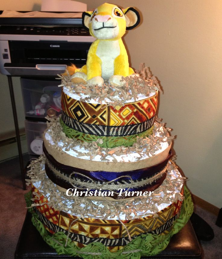 Oh I Just Can T Wait To Be King Diaper Cake For Lion