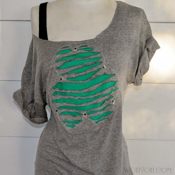 93 Best T Shirt Cutting Designs Images On Pinterest | DIY, Diy Shirt And  Crafts