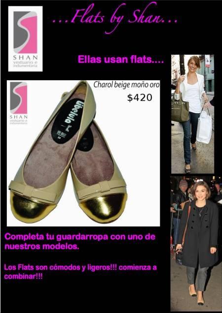 Fotos de Zapatillas Flats Charol Beige punta oro !!!!