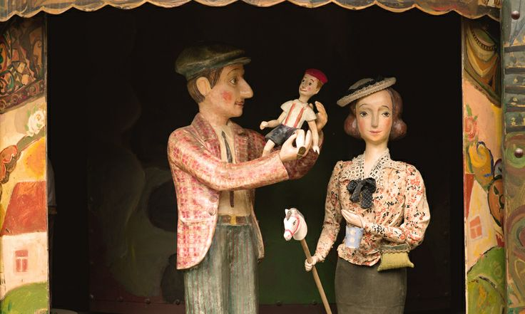 Puppet show at the clock tower / Rezo Gabriadze -  the Marionette Theater, Tbilisi.