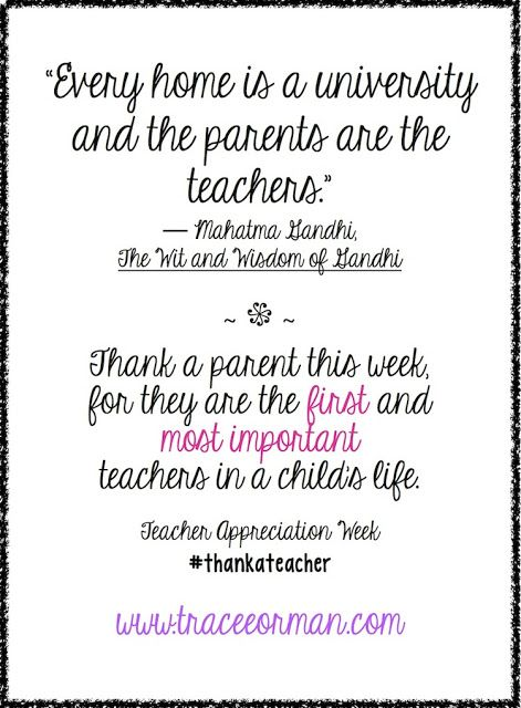 Parents are the first and most important teachers in a ...