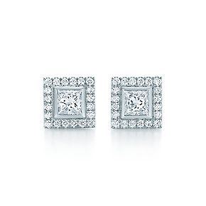 Tiffany Grace earrings in platinum with diamonds. Great Gatsby Collection. I for one can never have enough studded looks.