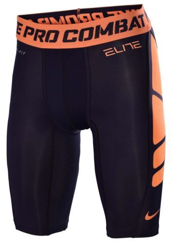 "Nike Pro Combat Elite 9"" Hypercool Compression Men's Shorts Blue Sz Small | eBay"