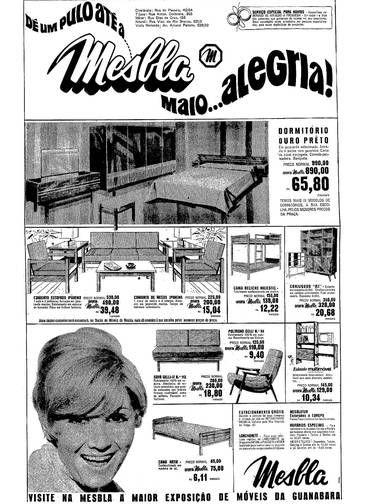 Anúncio da loja de departamentos Mesbla refletia a preocupação crescente com a decoração das casas