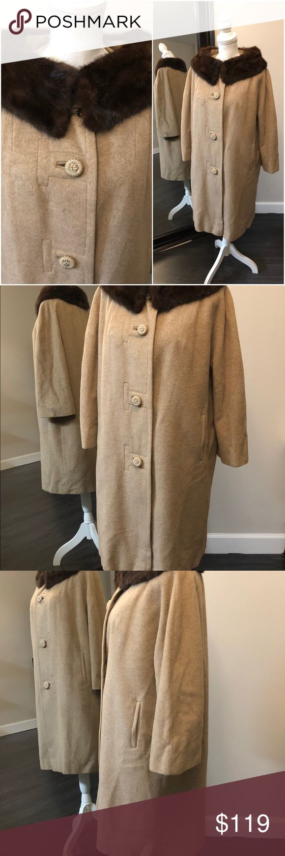 Mr. Jerome Original 100% cashmere and mink coat Vintage Mr. Jerome Original coat from the 1950s.  100% Mongolian cashmere, mink lined collar, fully lined in satin, and in near pristine condition. Mr. Jerome Original Jackets & Coats