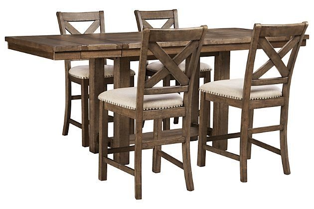 Moriville 5 Piece Dining Room Extendable Dining Table Dining