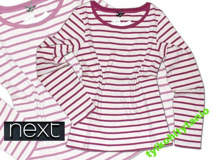 NEXT bluzka 9 lat paski 100% bawełna NOWA