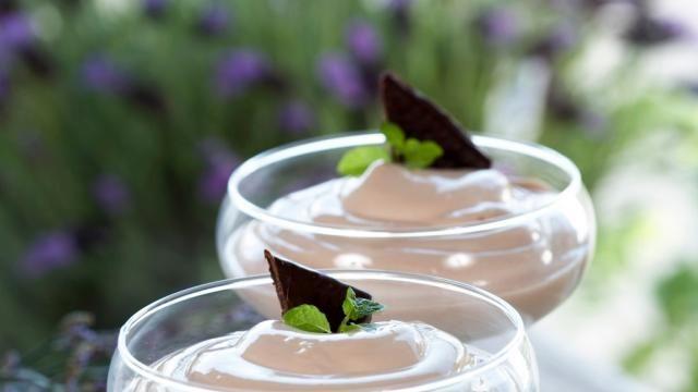 Oppskrift på sjokoladedessert med mint, foto: Synøve Dreyer