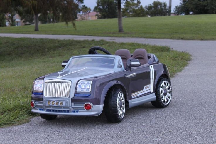 Rich Rolls Royse Phantom style Ride On Car For Kids with Remote Control | Purple