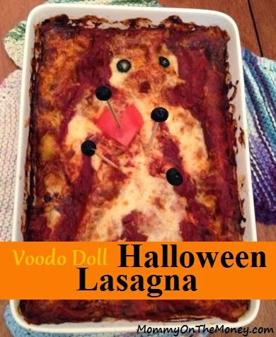 72 best halloween food images on pinterest halloween foods halloween food voodoo lasagna a creepy vegetarian main course forumfinder Image collections