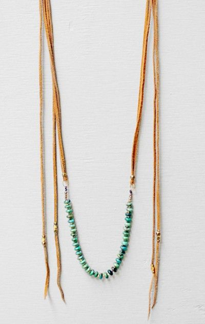 marisa haskell leather necklace
