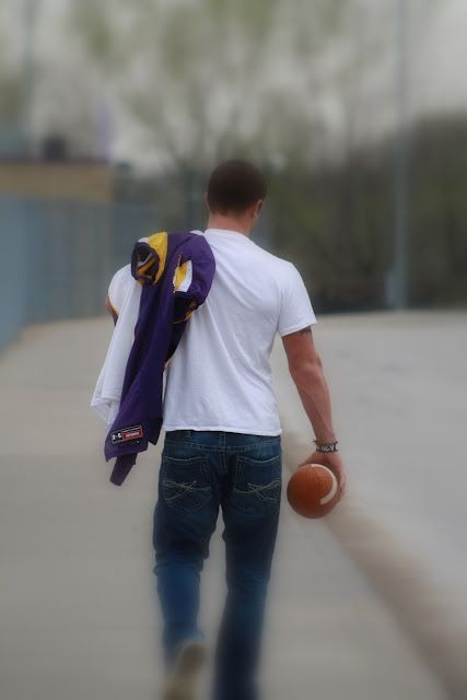Senior Picture idea...although maybe looking back over his shoulder? I hate the idea of not seeing his face.