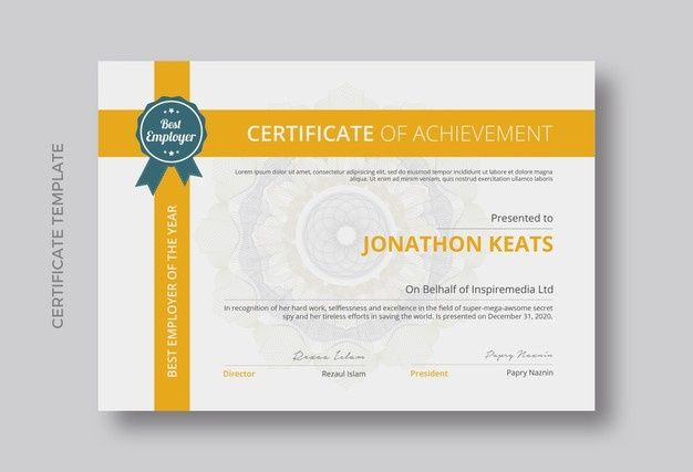 Certificate Of Achievement Template Design In 2021 Certificate Of Achievement Template Certificate Of Achievement Certificate Of Appreciation