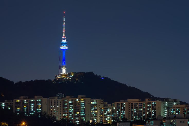 The N Seoul Tower, officially the YTN Seoul Tower and commonly known as the Namsan Tower or Seoul Tower, is a communication and observation tower located on Namsan Mountain in central Seoul, South Korea. At 236m, it marks the highest point in Seoul. https://twitter.com/heenasingla528/status/669843223544631296