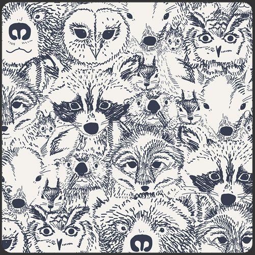 Art Gallery Menagerie Onyx Cotton - 1/2 yard - Funky Monkey Fabrics Inc.