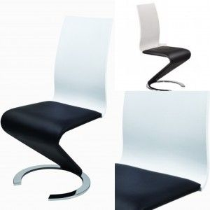 Leona Z Dining Chair in Black and White