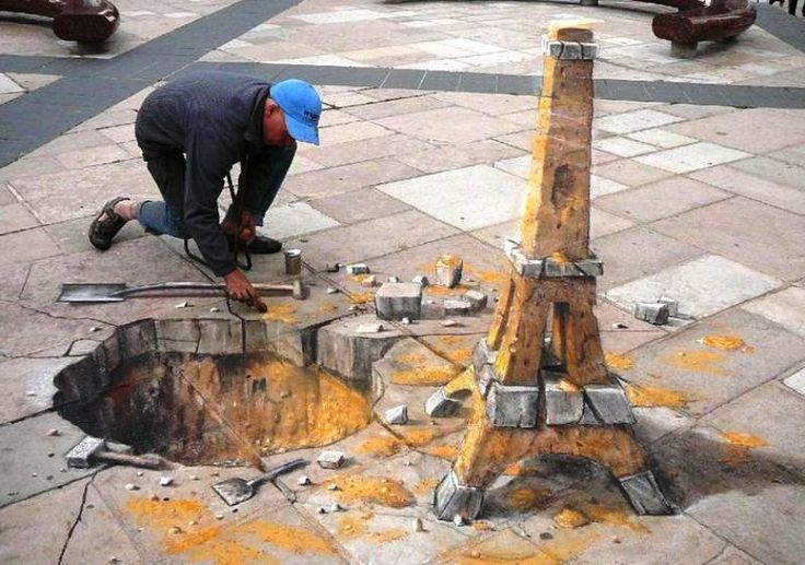 Julian Beever is an English artist who has been creating 3D works since the mid 90s.