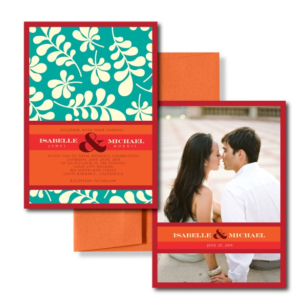 Grey Wedding Invitations, Red Wedding Invitations. Please visit A Silverware Affair at