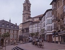 Vitoria-Gasteiz (Basque: Gasteiz;  Spanish: Vitoria, officially Vitoria-Gasteiz) is the capital city of the province of Álava and of the autonomous community of the Basque Country in northern Spain with a population of 235,661 people. It is the second largest Basque city.