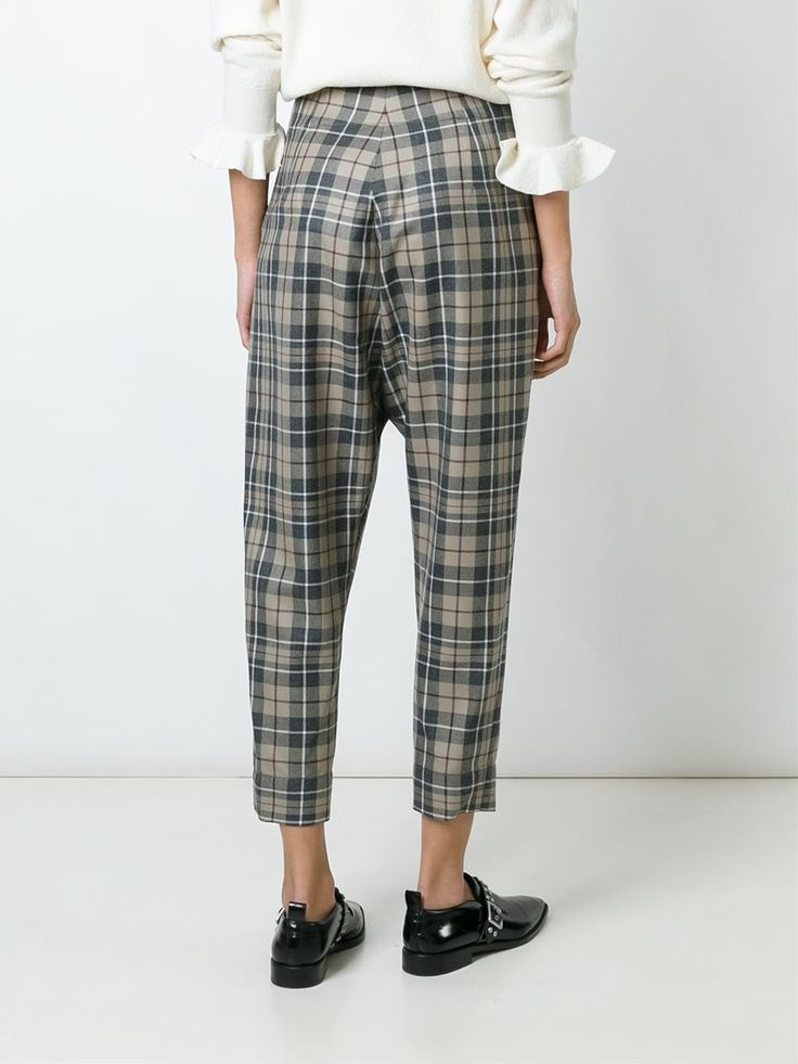 Vivienne Westwood Anglomania  checked cropped trousers