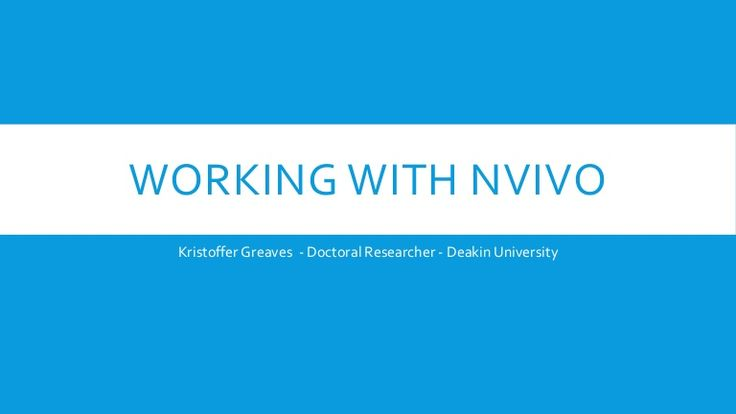 Working with NVivo - Literature Reviews, Framework Matrix, Coding Mat…