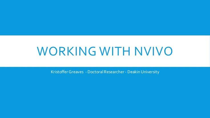 Working with NVivo - Literature Reviews, Framework Matrix, Coding Mat…