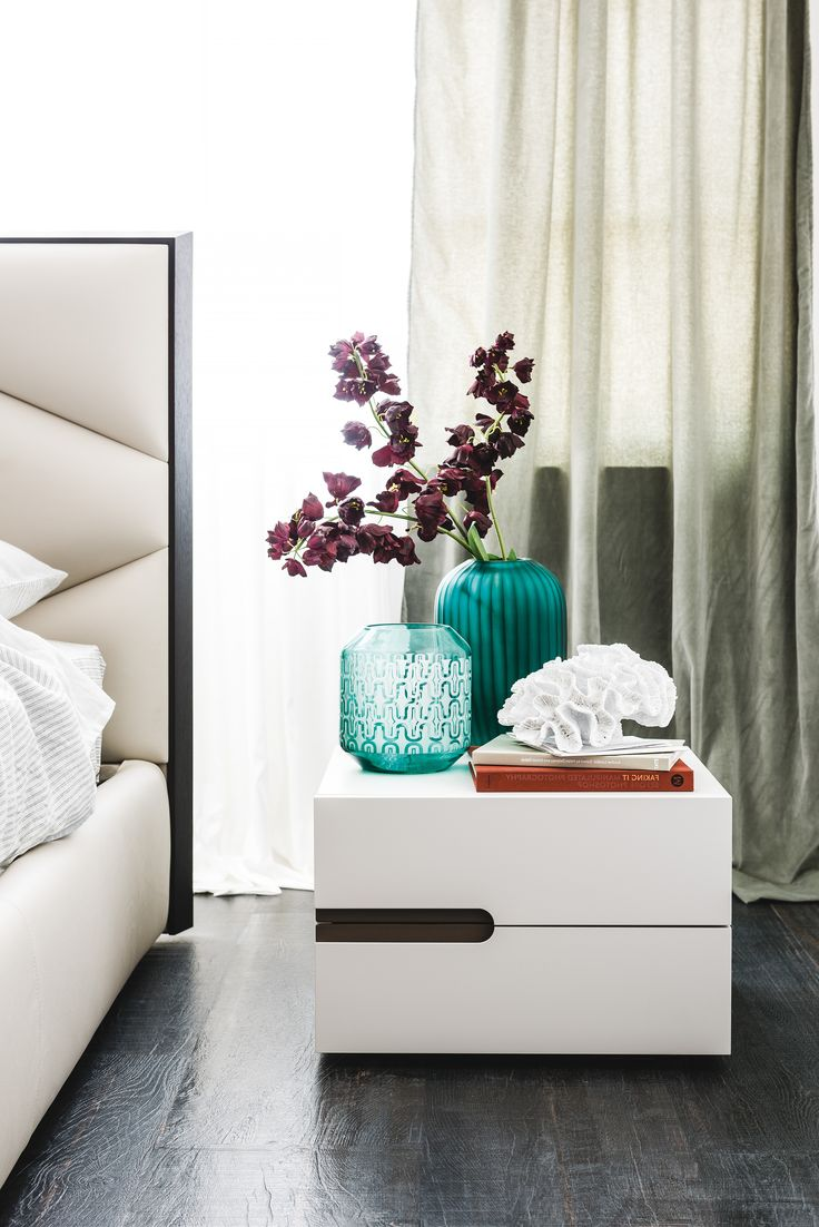 Ciro is a cute and compact bedside table that is suitable for any bedroom design due to its minimalistic design. It is available in various finishes from IQ Furniture.
