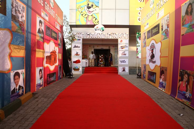 Entrance for Viva 5 Grand Finale powered by Olympia Sportz & Events www.olympiasportz.com