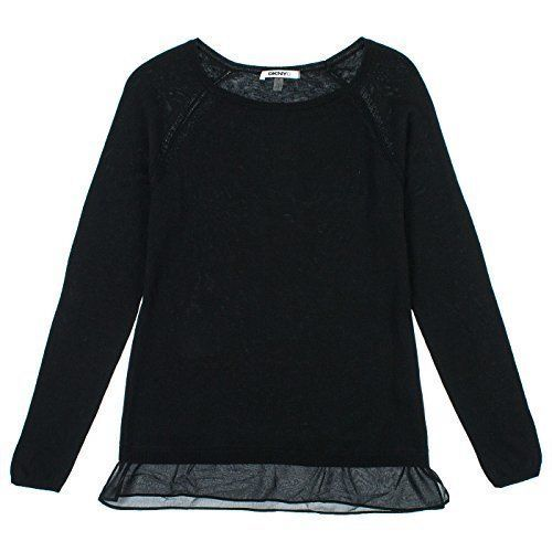 DKNY Womens Layered Look Long Sleeve Sweaters Multiple Colors & Sizes NEW #DKNY #LongSleeve
