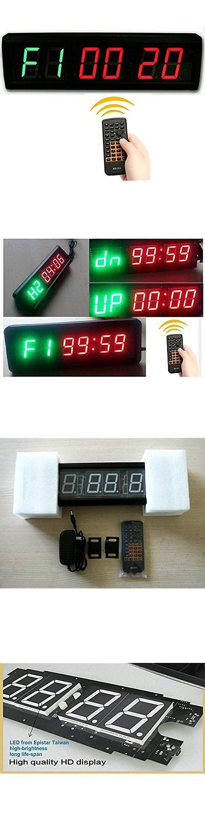 Stopwatches 166149: Time Clock 1.5 In. High 6 Digits Led Countdown Gym Boxing 12 24-Hr Real Remote -> BUY IT NOW ONLY: $98.99 on eBay!